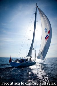 Free at sea to explore and relax